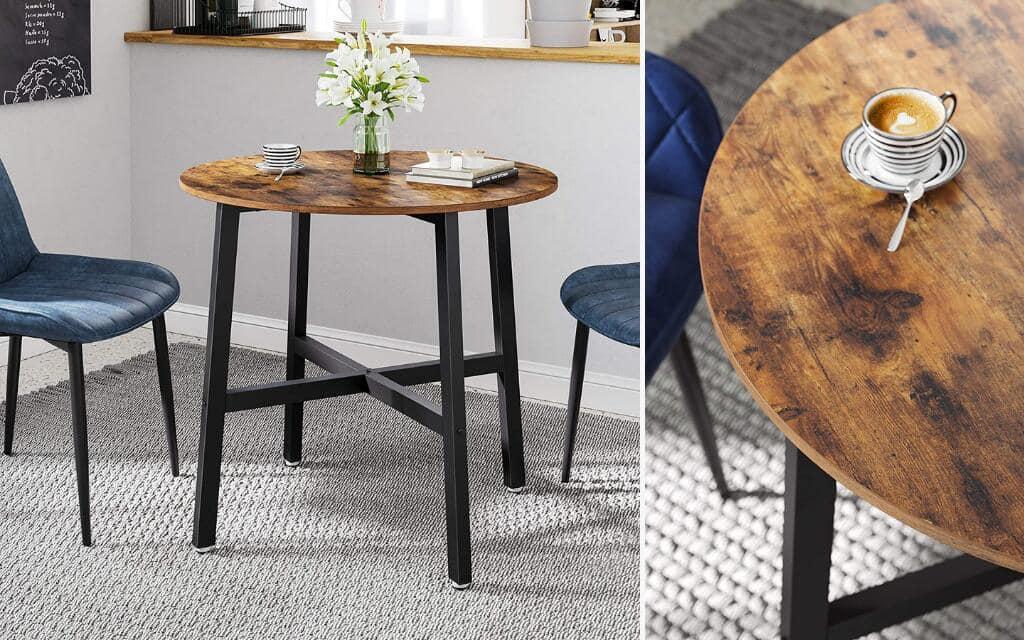mesa redonda estilo industrial