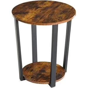 mesa redonda industrial de noche