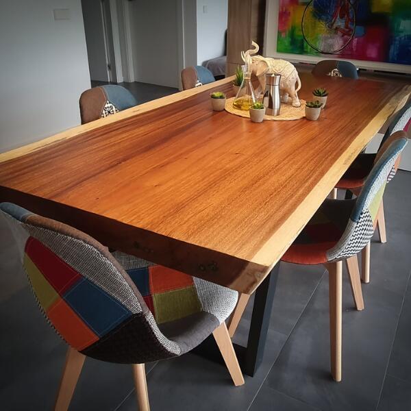 mesas industriales de madera