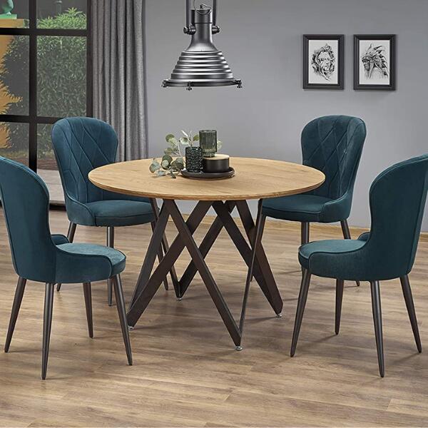mesas redondas estilo industrial