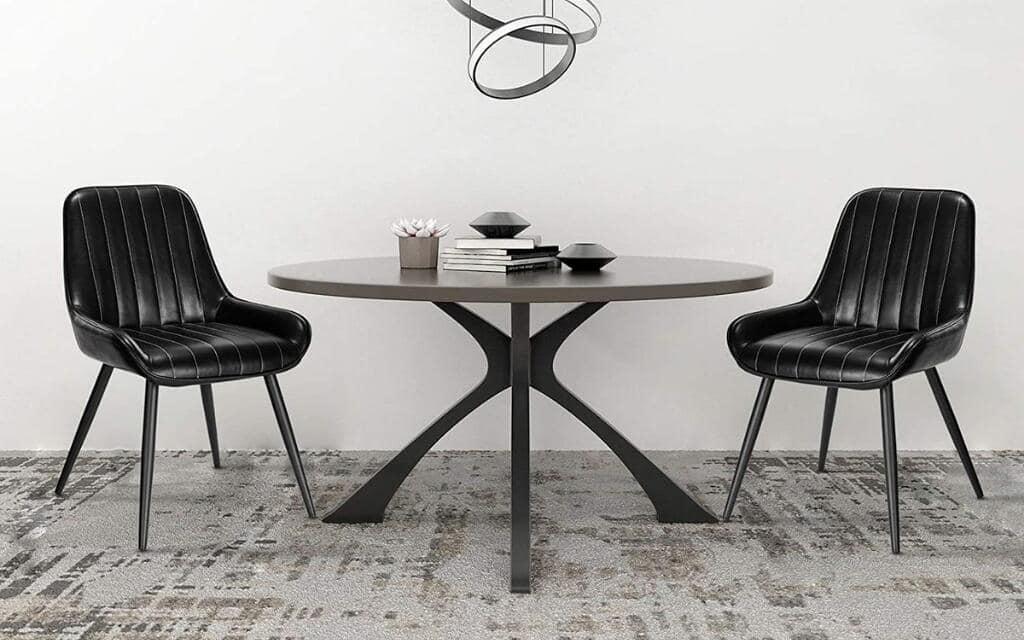 silla estilo industrial tapizada de metal