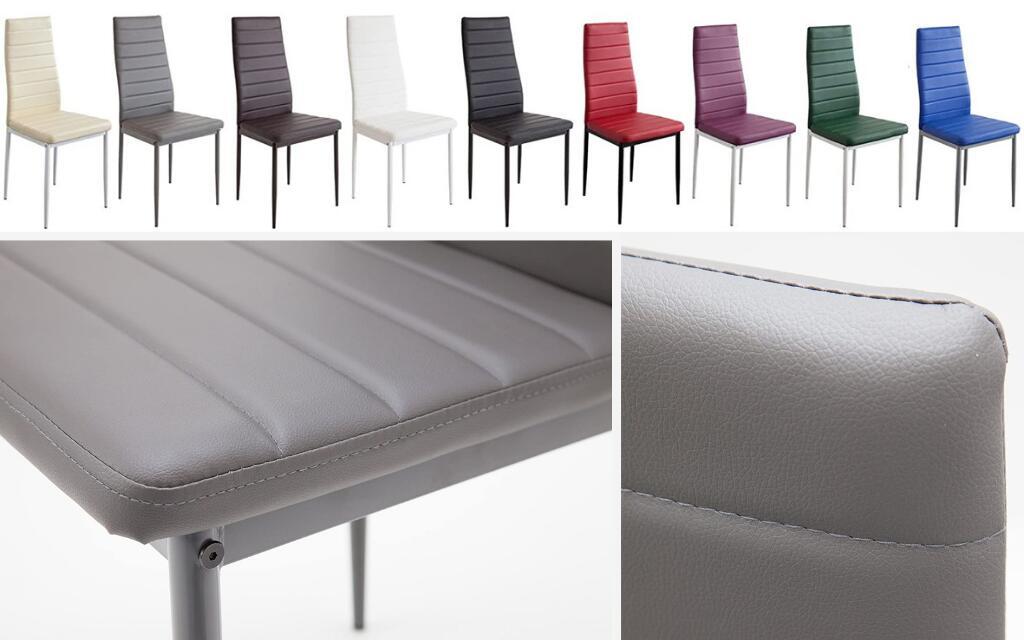 silla estilo industrial tapizada para cocina