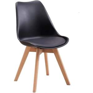 silla industrial tapizada de madera