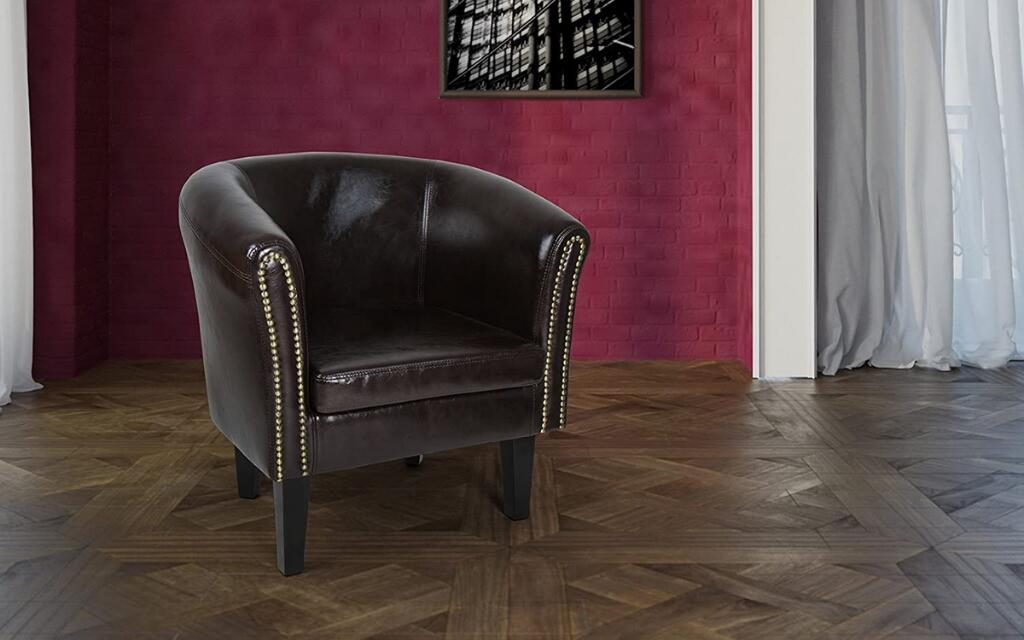 sillón de cuero estilo industrial