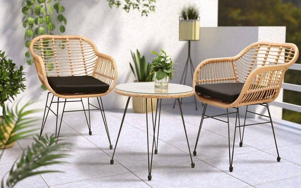 sillones de jardín estilo industrial