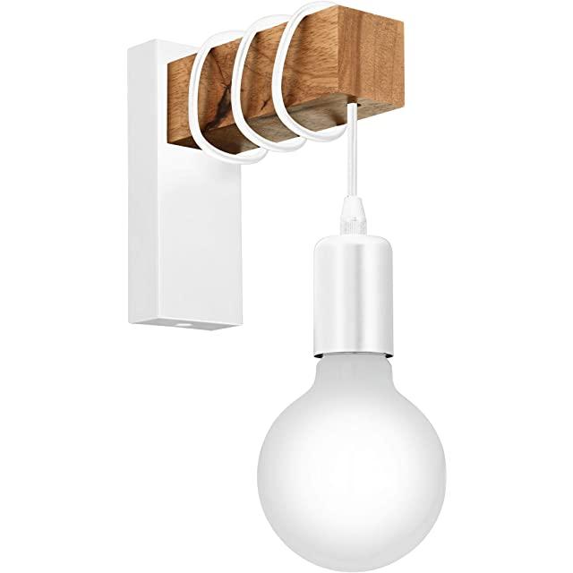lampara de pared industrial blanca
