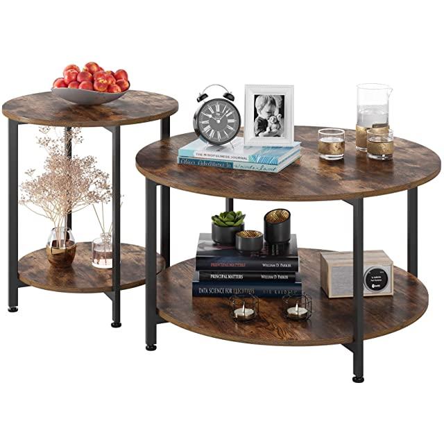 mesa de centro redonda industrial