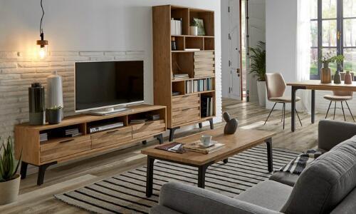 muebles de salón estilo industrial