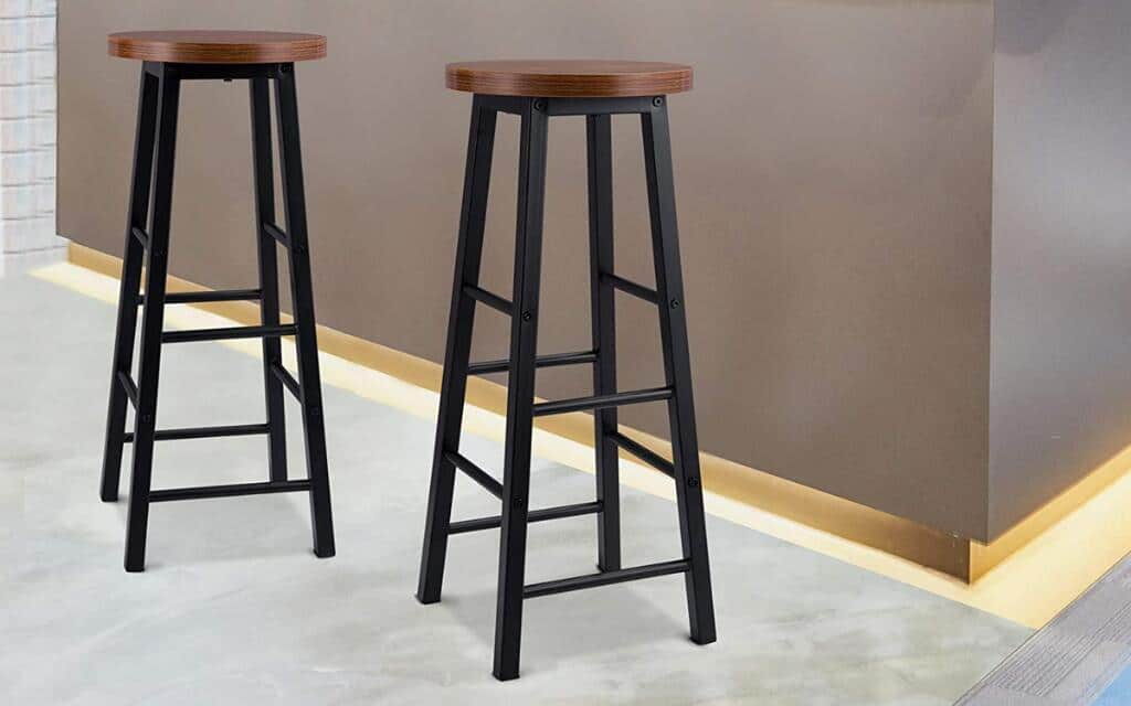 taburete estilo industrial metal madera